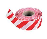 Лента сигнальная для ограждений 50ммх200м (красно-белая)