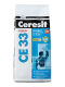 Затирка цементная для узких швов Ceresit CE 33 белая 5кг