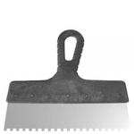 Шпатель 250 мм зуб 6x6 нержавеющая сталь пластмассовая ручка