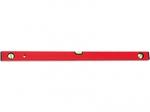 Уровень алюминиевый красный 3 глазка с линейкой 800 мм